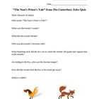 """The Nun's Priest's Tale"" from The Canterbury Tales Quiz"