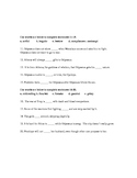 The Odyssey Vocabulary: 3 Lists and Multiple Choice Quizzes