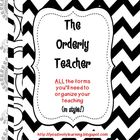 The Orderly Teacher Black and White