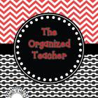 The Organized Teacher {Editable Planner in Black & Red}