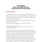 The Outsiders Activities and Lesson Ideas