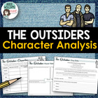 """The Outsiders"" Character Comparison Chart / Character Sketch"
