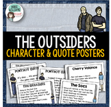 The Outsiders - Character and Quote Posters