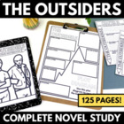 The Outsiders - Complete 98 Page Unit with Questions and A