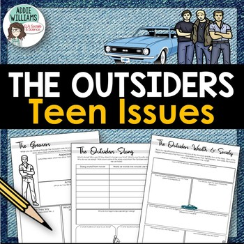 """The Outsiders"" Graphic Organizers / Discussion prompts"