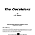 The Outsiders Literature Guide (First Edition)