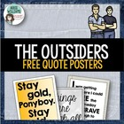 """The Outsiders"" Quote Posters - FREE!"