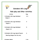 The Outsiders Slang and Idioms-1960&#039;s Lingo Worksheets