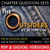The Outsiders, Worksheets Quizzes Homework Discussion for