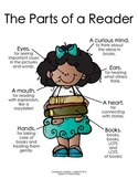 The Parts of a Reader:  Girl  {Melonheadz Clipart Version}