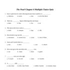 The Pearl Chapter 6 Multiple Choice Quiz and KEY