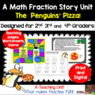 The Penguins&#039; Pizza! A Math Fraction Story Unit