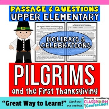 The Pilgrims and the First Thanksgiving Passage and Questions