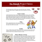The Pinballs Creative Reading Project Activities and Rubric