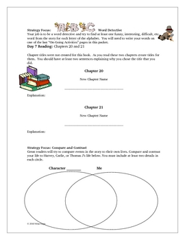 The Pinballs Reading Comprehension Guide Activities Lessons KEY