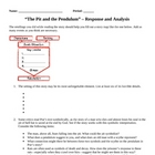 """The Pit and the Pendulum"" Response and Analysis Questions"