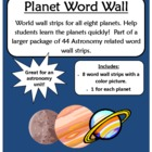 The Planets - Word Wall - FREE