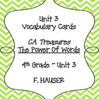 """The Power of Words"" Vocabulary Cards for Treasures - 4th"