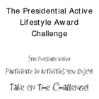 The Presidential Active Lifestyle Award Challenge