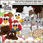 The Pudgy RED HEN Clip Art Collection