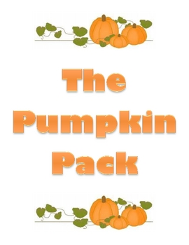 The Pumpkin Pack:  Pumpkin Pie for All!