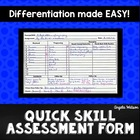 The Quick Skill Assessment Form: A simple system to docume