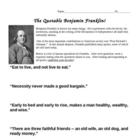 The Quotable Benjamin Franklin