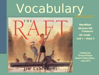 The Raft - Vocabulary