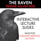 The Raven, Interactive Materials to Use with Edgar Allan P