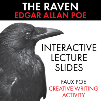 The Raven, Interactive Materials to Use with Edgar Allan Poe's Masterpiece