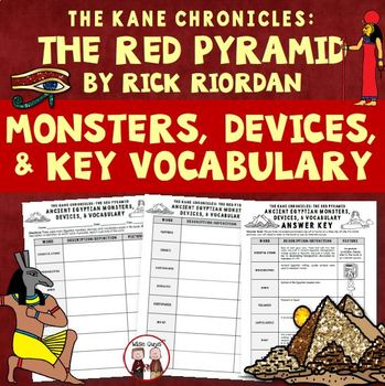 The Red Pyramid Egyptian Monsters and Vocabulary Worksheet