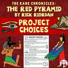 The Red Pyramid Reading End of Novel Project Activities an