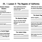 The Regions of California Notes