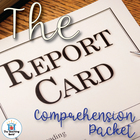 The Report Card Comprehension Question Packet