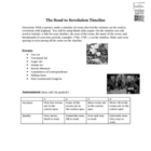 The Road to the American Revolution Timeline Activity Lesson Plan
