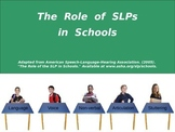 The Role of SLPs in Schools (PowerPoint)