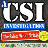 The Salem Witchcraft Trials - A CSI Investigation!  What h