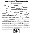 The Scariest Halloween Ever--Mad Lib