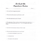 The Scarlet Ibis Question Guide (Hurst)