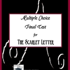 The Scarlet Letter Multiple Choice Final Test