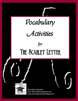 The Scarlet Letter Vocabulary Activities