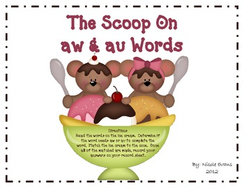 The Scoop On aw & au Words