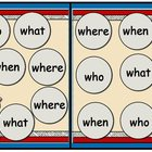 The Scoop Who What When Where File Folder Game