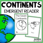 The Seven Continents Cut and Paste {Emergent Reader}