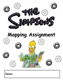 The Simpsons Mapping Assignment - Map Skills (MUST SEE)