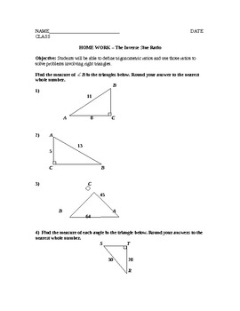 The Sine Ratio Lesson Plan