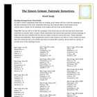 The Sisters Grimm Reading Vocabulary Activity Common Core