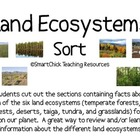 The Six Land Ecosystems Sort Packet