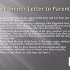 """The Sniper"" - Write a Letter to Your Parents - Point of View"