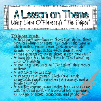"""The Sniper"" theme lesson bundle"